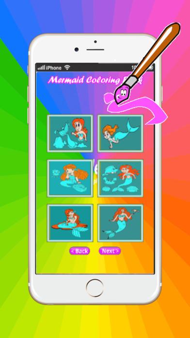 游戏人鱼公主着色书艺术垫:为小孩容易涂装