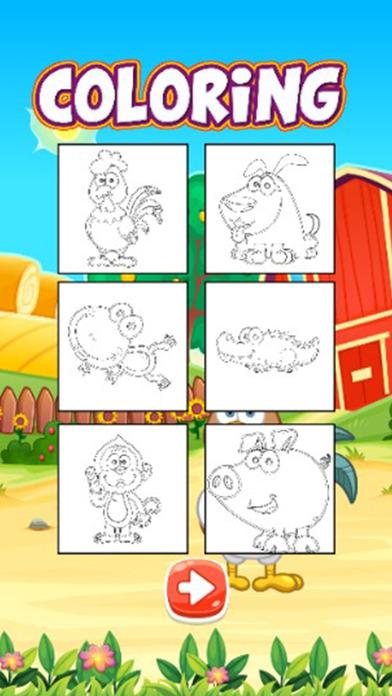 图画书游戏 - 动物画