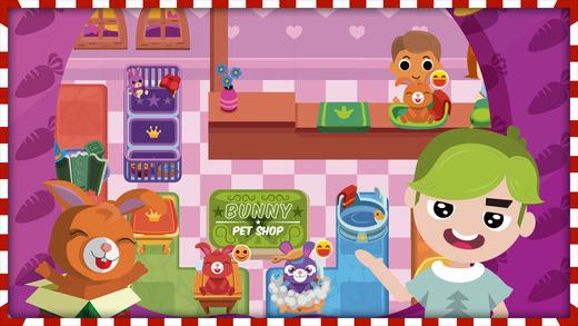圣诞节 小 兔子 宠物 店 故事 可爱 & 可爱的