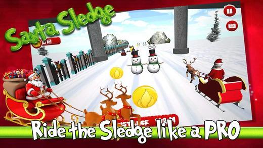 飞行雪橇高圣诞老人圣诞节礼物比赛