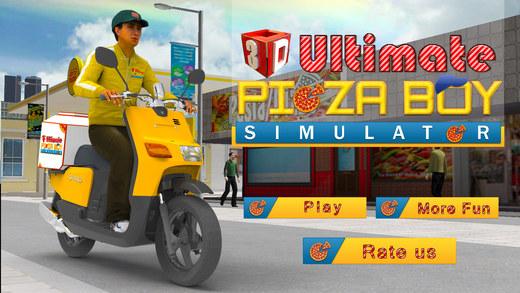 3D终极披萨男孩模拟器 - 疯狂的摩托车骑手和停车场模拟冒险游戏