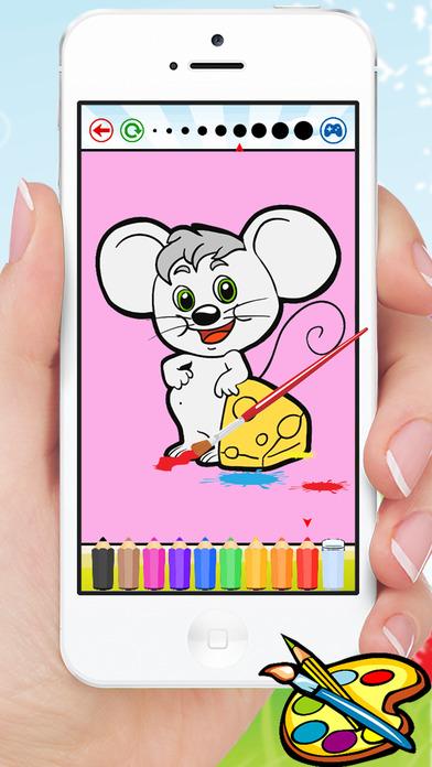 动物狗猫鼠及着色书 - 图纸进行儿童游戏