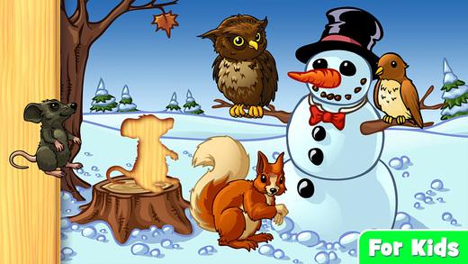 我的第一个动物拼图 - 森林动物的幼儿和儿童 (Animal shapes and forms children puzzle app for kindergarten kids and toddlers)