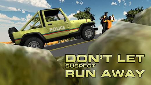 4×4越野吉普车警察 - 在这个警察的车辆驾驶游戏大通劫匪被捕