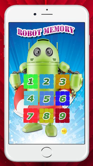 簡易機器人匹配遊戲的孩子