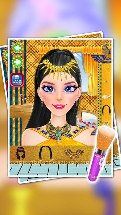 埃及女孩的妆容 - 穿衣游戏美女娃娃