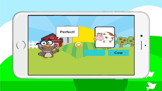 宝宝动物第一个单词的乐趣学习教育游戏