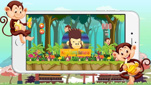 金刚吃香蕉丛林运行游戏的孩子 king kong love banana