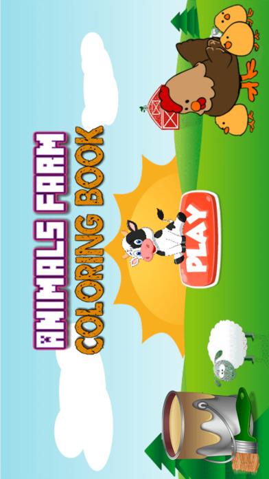 动物农场图画书 - 颜色您的网页和油漆农场图纸的为孩子们的动物和绘画游戏