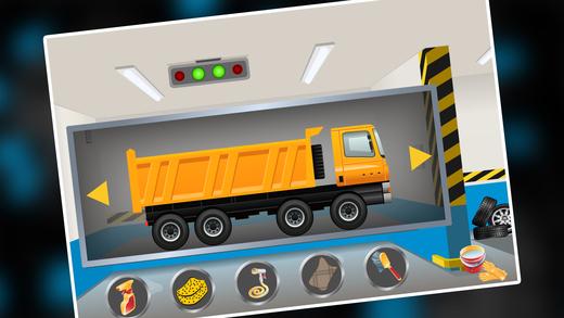 自卸卡车沙龙汽车修理:洗车及水疗游戏