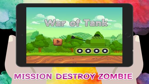 坦克射击僵尸游戏的孩子的战争