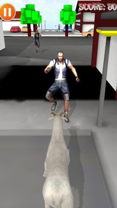 山羊跑步追赶Theif模拟器