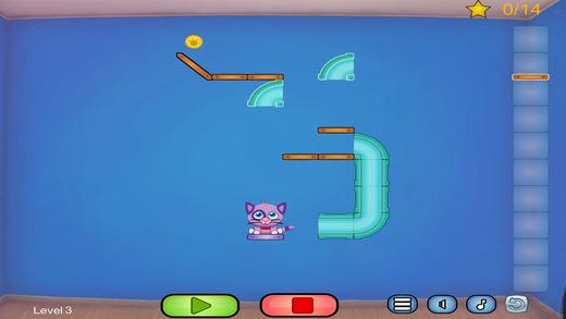 小猫的零食 - 割绳子动作物理解谜游戏