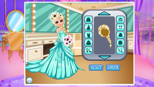 冰雪公主的婚礼装扮