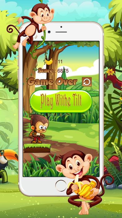 金刚吃香蕉丛林运行游戏的孩子
