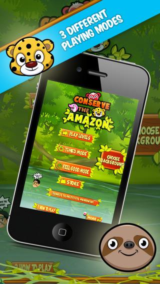 Conserve the Amazon - 保护亚马逊 - 收養我---一個免費易上癮的益智遊戲