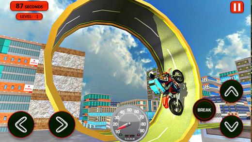 屋顶跳跃自行车停车场 - 特技驾驶