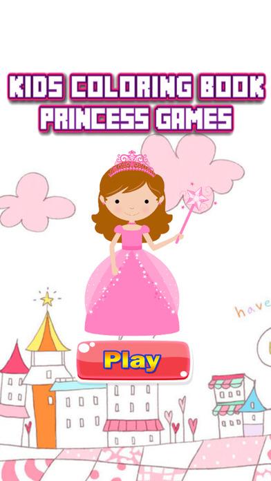 公主彩图 - 字母绘图页和绘画教育教学技能比赛对于儿童幼儿