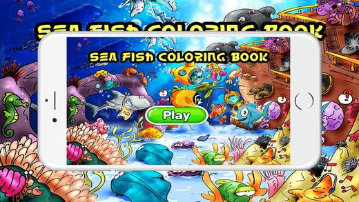 海魚著色書兒童蹣跚學步