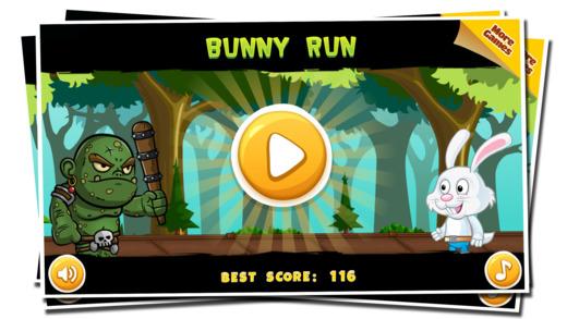 兔子运行 - 街丛林兔子孩子跑