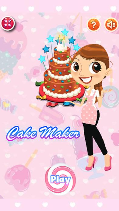 蛋糕製造商烹飪裝飾