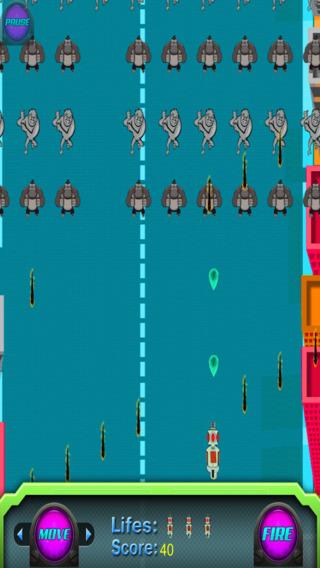 外来入侵猿 - 激光射击防御爆炸 免费