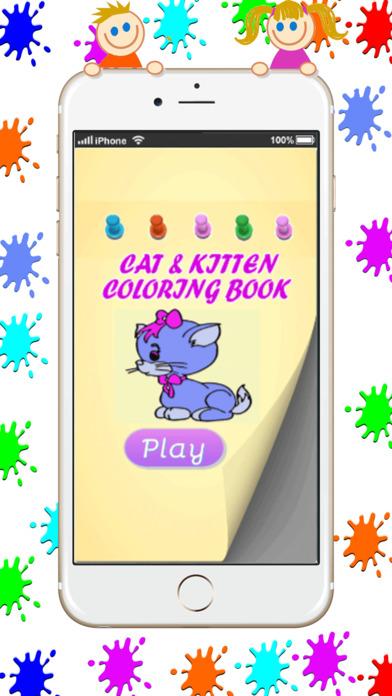 吉蒂和猫着色书游戏:基本开始