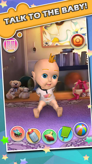 3D照顾会说话的宝贝 - 儿童游戏