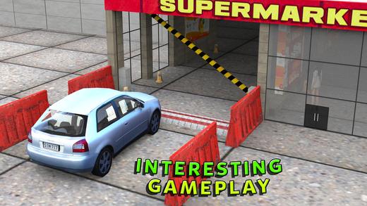 驱动器通过超市车 - 城市商场模拟器