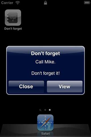 不要忘记 - 记事本