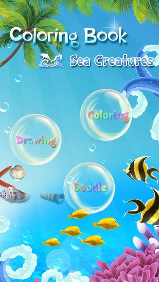 儿童画画填色涂鸦:海洋动物(免费)™