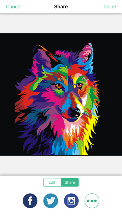 动物曼陀罗着色页缓解压力