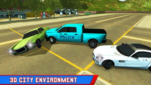警察卡车小偷追逐 - 真正的警车开车