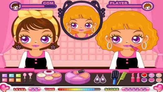 女孩化妆比赛