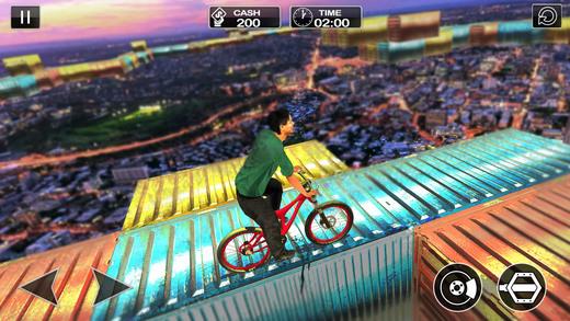 不可能的轨道自行车骑手:特技驱动2017
