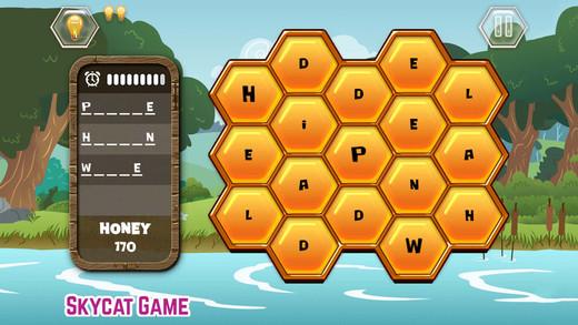 字母益智游戏 - 找单词,学英语