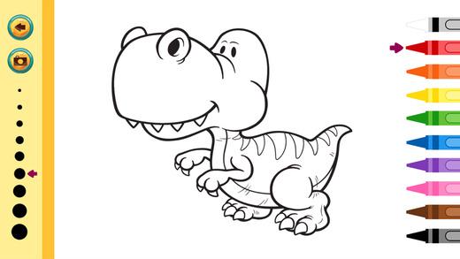 恐龍圖畫書 - 教育著色遊戲為孩子