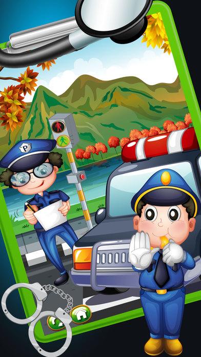 警察手术 - 在这家医院的医生操作游戏警察受伤