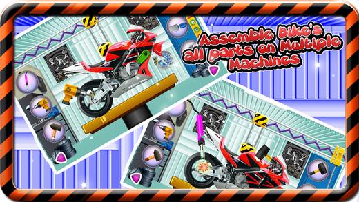 体育自行车厂 - 在这个机械车库游戏的孩子建造摩托车