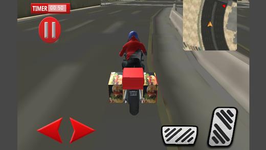 快餐摩托车交付和自行车骑手模拟