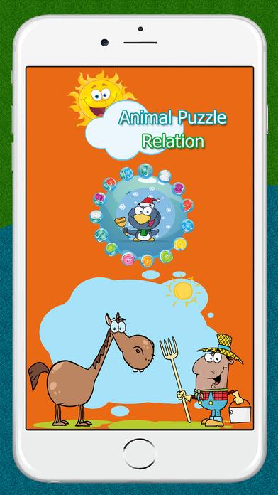 有趣的动物农场的益智游戏的孩子。