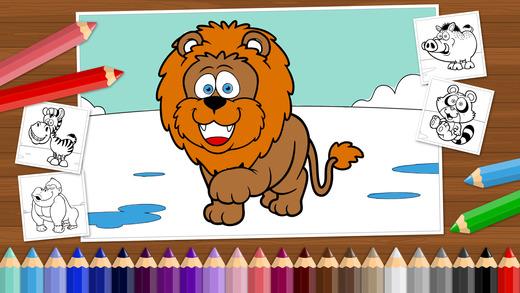 好笑的动物 – 给小男孩、小女孩和孩子们的涂色书