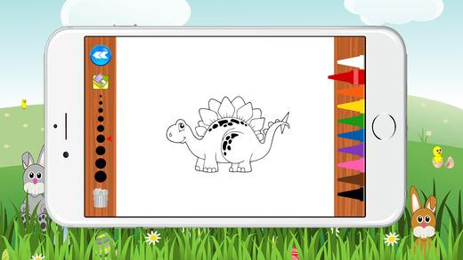 圖畫書的小恐龍遊戲為孩子們免費