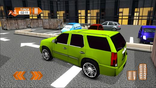 4x4吉普车停放和汽车驾驶模拟器