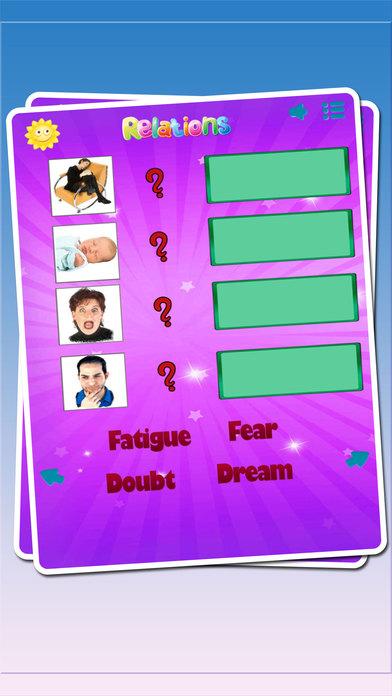 教育意識感覺困惑:情字感學習英語詞彙益智遊戲,為孩子和幼兒