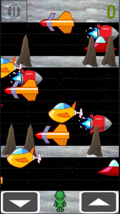 外星机器人侵略者运行十字路口的空间