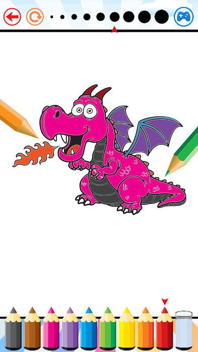 龙 恐龙 染色 书 - 迪诺 孩子们 所有 在 1