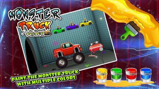 怪物卡车制造商 - 在这个疯狂的机械游戏的孩子建造四轮驱动车辆