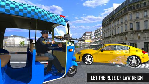 警方笃笃:自动人力车驾驶模拟器