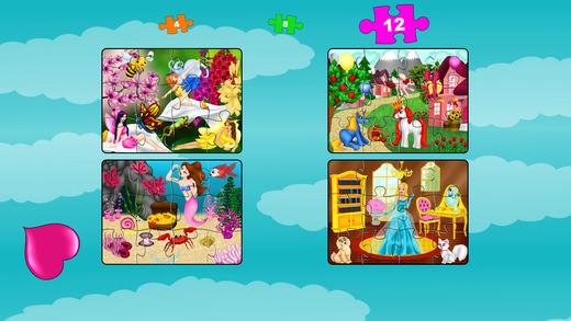 公主拼图 - 免费有趣的教育形状配对游戏的女孩,幼儿,儿童和学龄前儿童!